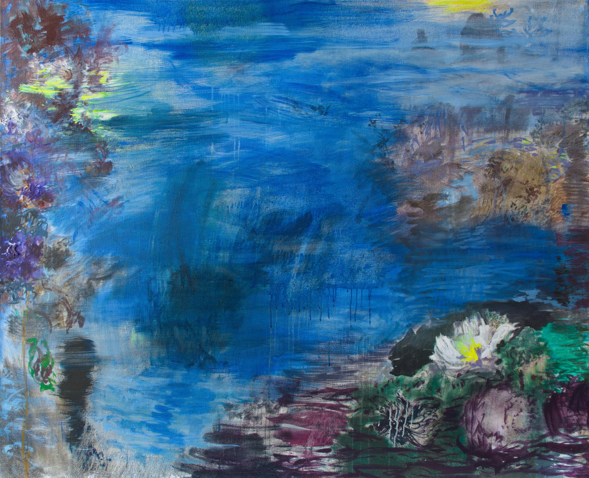 Marjukka Paunila: Nazaré, 130x160 cm, tempera, 2017